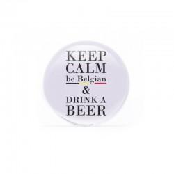 Badge - Keep calm, be Belgian